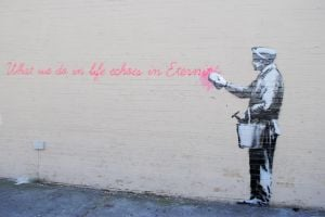 Banksy comes to Woodside 1