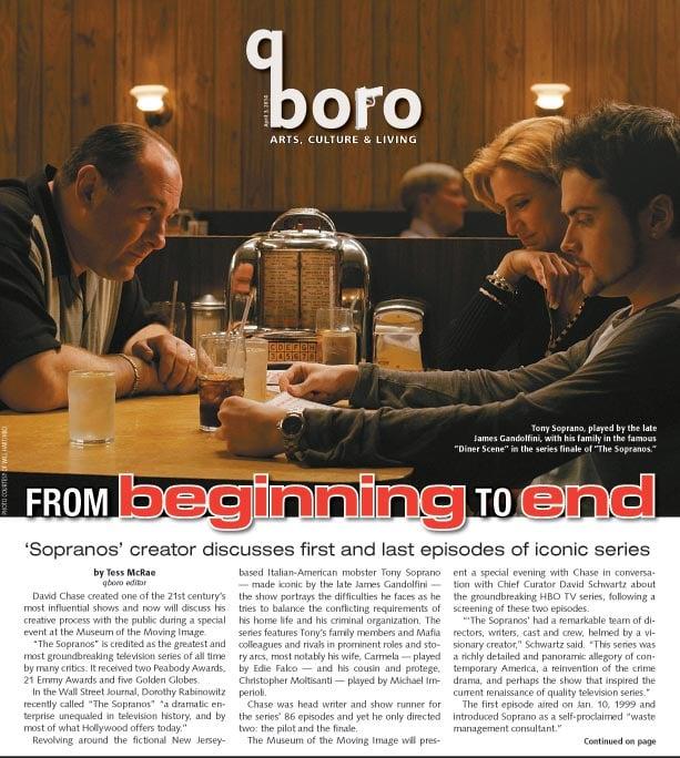 Creator of 'The Sopranos' talks shop in Astoria 1