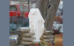 Statue desecrated at Ozone Park church 1