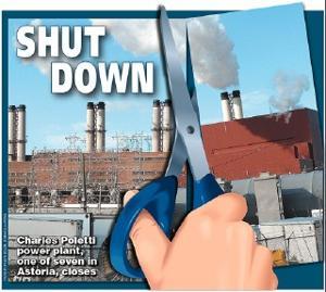 Power plant closes in Astoria