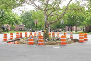 Work begins on Lindenwood circle 1