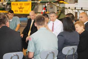 U.S. schools chief visits Aviation HS 1