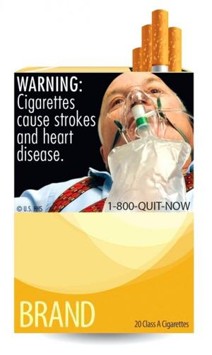 New graphic images warn against smoking 1