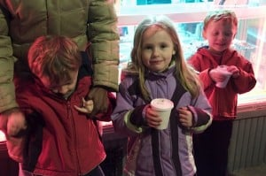 Enjoying the Skillman Avenue lighting ceremony