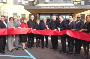 Cutting the ribbon on new senior housing 1