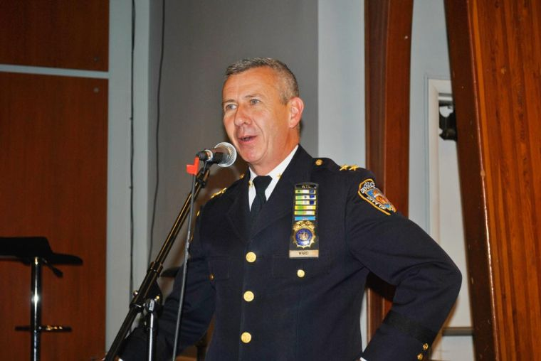 New Queens NYPD chief visits CB 13 1