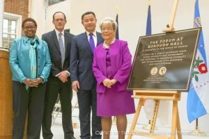 Borough Hall dedicates new extension 1