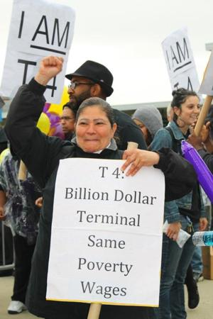 JFK workers protest Terminal 4 opening 2