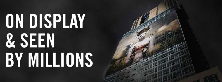 Giant projections to go on LIC building 1
