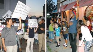 Racially charged protests get testy 1