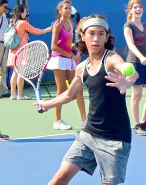 Junior tennis clinic a smashing success