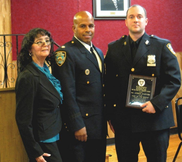 102nd cop honored for work in arrests 1