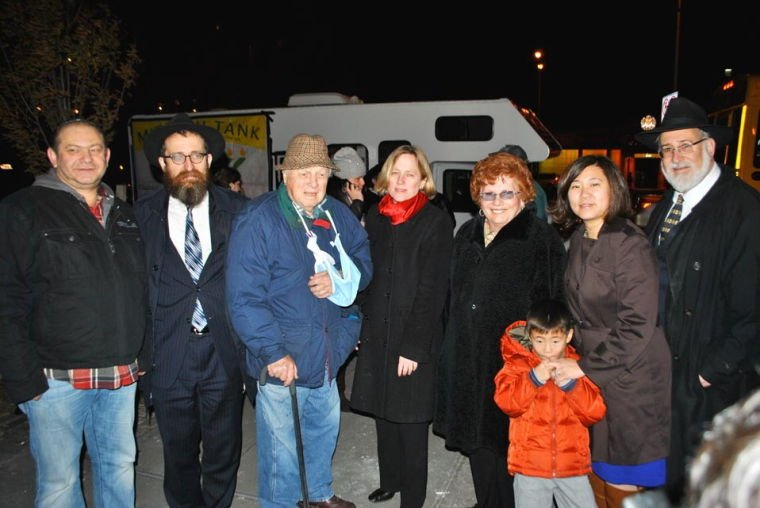 Chabad of Rego Park menorah lighting