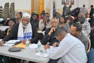 St. Albans Civic Assn. and church square off 1