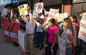 Some protest Roosevelt Avenue Business Improvement District 1