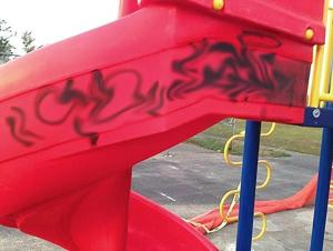 Hamilton Beach park marred with graffiti 1