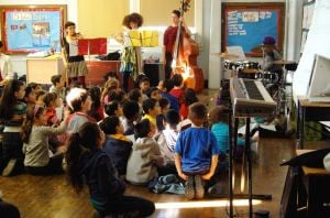 Little composers listen to their work 1