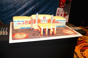 Resorts World Casino New York City cuts cake at 1st birthday party  1