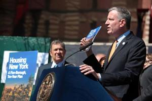 De Blasio unveils massive housing plan 1