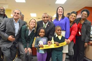 Ribbon cutting at the Rosedale Library 1