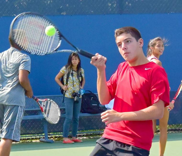 Junior tennis clinic a smashing success