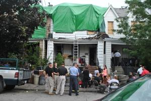 Middle Village homes catch fire 1