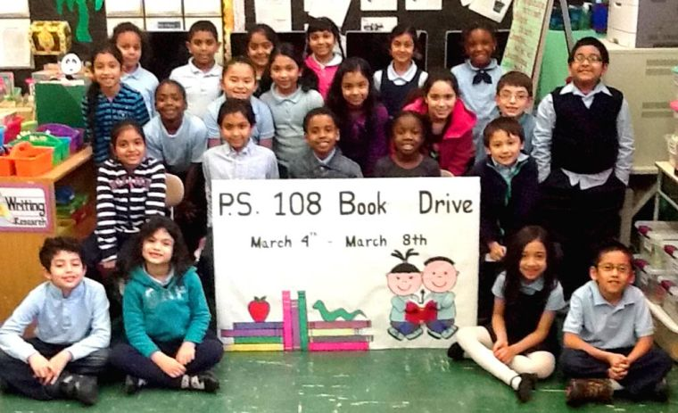 PS 108 Sandy book drive 1