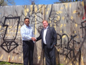 New fence set to replace eyesore 1