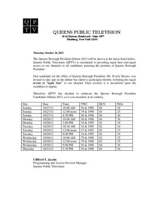 QPTV will show Queens borough president debate after all