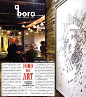 Pairing the new and old LIC with good food and art 1