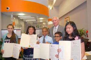 Essay contest winners feted 1