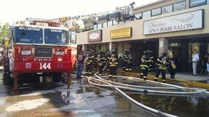 Restaurant fire injures owner 1