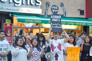 Ferguson rally held in Jackson Heights 1