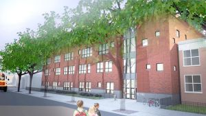 <p>An architectural rendering depicts the future expansion at PS 176 in Cambria Heights. The city's Department of Education said work should start within the next 60 days, and will be completed in time for the opening of school in September 2016.</p>