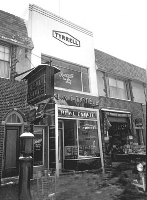 <p>The Franklin Tyrrell Real Estate office was located at 71-30 Austin St. as shown in this 1940 photo.</p>