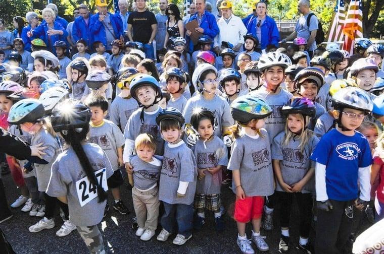 Astoria Civic's youth bike race rolls