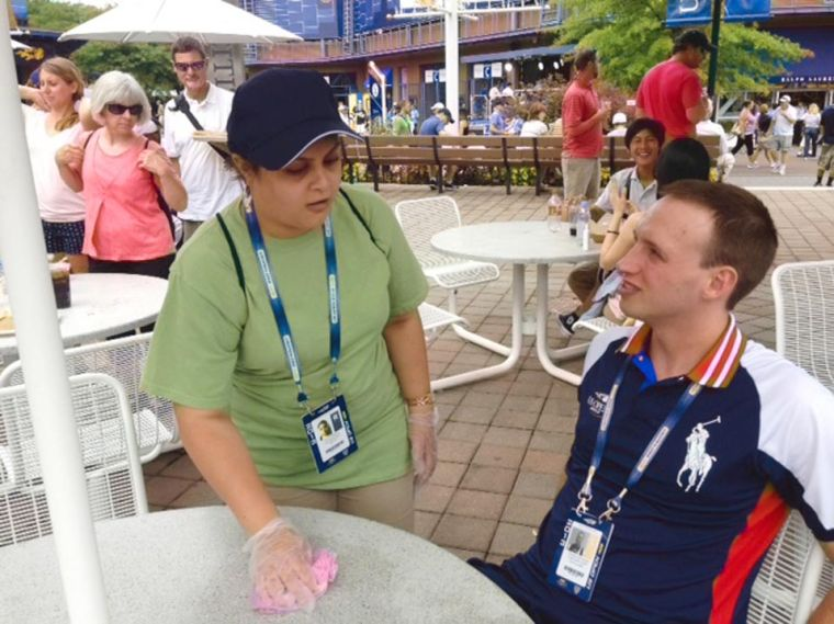 YAI workers are a force at US Open 1
