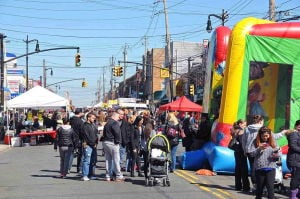 Springtime fun on Metropolitan Avenue