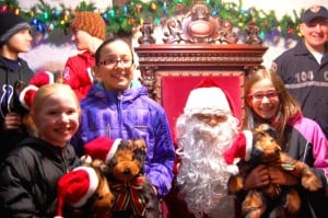 Glendale children visit with Santa at tree lighting  1