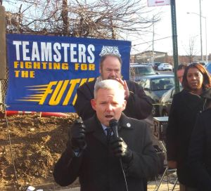 Queens delivery employees, electeds rally after mass firing 1