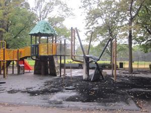Police seek arsonist in playground fire 1