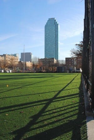 Murray Playground's ball field