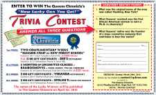 """How Lucky Can You Get?"" Trivia Contest"