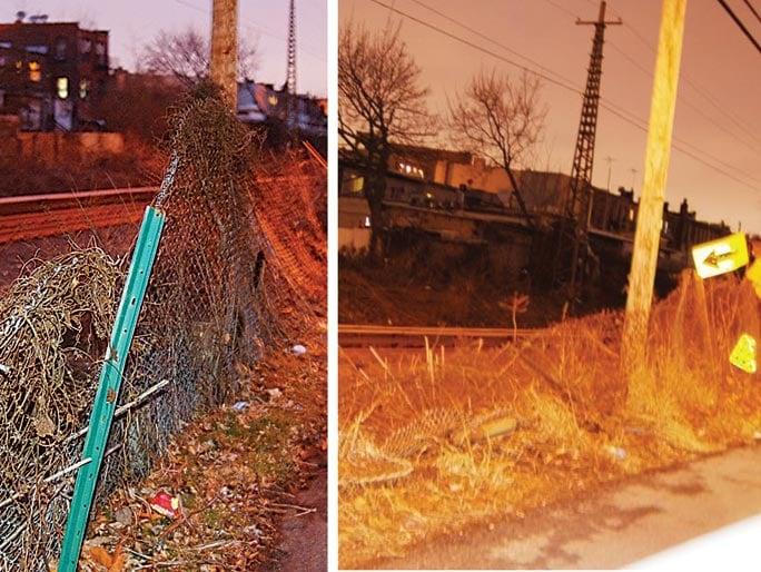 Downed LIRR fence creates hazard 1
