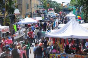 Myrtle Avenue filled with festivities
