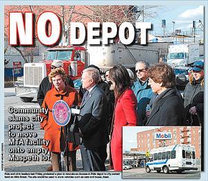 Community blasts city for MTA bus depot plan