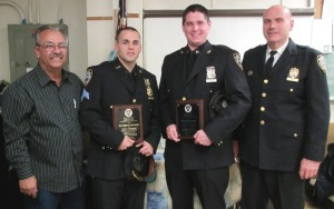 Cops honored for nabbing burglars  1