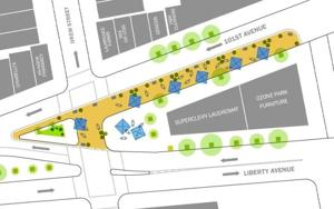 Pedestrian plazas eyed for City Line 1