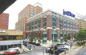 Boro Prez says yes to JetBlue sign 1