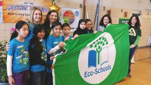 PS 154 earns its green ecology flag 1